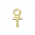 Pendant holder Classic for Swarovski Drop 20mm raw brassx1