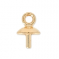 Classic drop pendant holder for Drop Swarovski 30mm rose gold x1