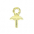 Classic drop pendant holder for Drop Swarovski 30mm laiton brut x1