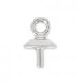 Classic drop pendant holder for Drop Swarovski 30mm Rhodium x1