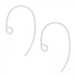 925 silver 13mm round Earhook chased x2