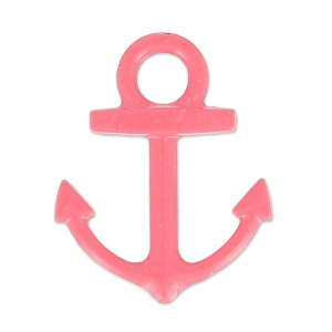 Coloured pendant anchor 15x18 mm raspberry x1