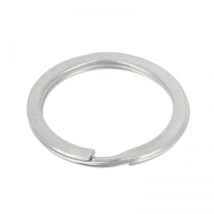 Round shape keyring 28mm  stainless steel  x1