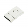Magnetic clasp for cords 14mm Old silver tone x1