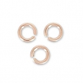 14K Rose Gold filled jumprings open 2.5x0.5mm  x50