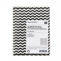 Paper Poetry Notebook herringbone 80x105mm black x1