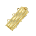 3 strands clasp 9.5x22 mm golden tone x1