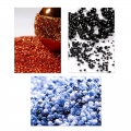 Mini Seed beads 1.5mm Opaque Blue Pastel  x10g