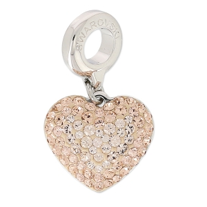Swarovski 86502 Charms 14 mm Light Peach/Silk x1