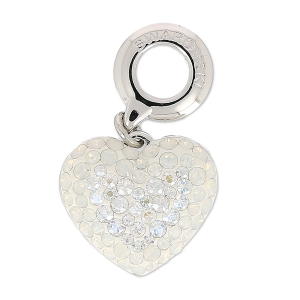Swarovski 86502 Charms 14 mm White Opal/Crystal Moonlight x1