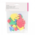 Assortment of foam hands and feet 2.5 cm to 8 cm Multicoloured x32