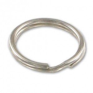 Round shape keyring 30mm Rhodium tone x1