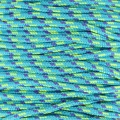 Parachute Cord 2.5 mm Turquoise/Blue x1m