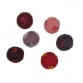 Assortment of wool felt beads 24 mm Red x6
