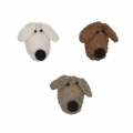 Assortment of dogs heads 38mm Brown/Beige x3