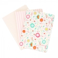 Assortment Paper Poetry Notebooks 105x140 mm Romantique Flowers x3