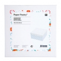 Square carton box  Paper Poetry 140x70mm Romantique Flowers White x1