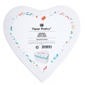 Heart carton box Paper Poetry 150x70mm Romantique Flowers White x1