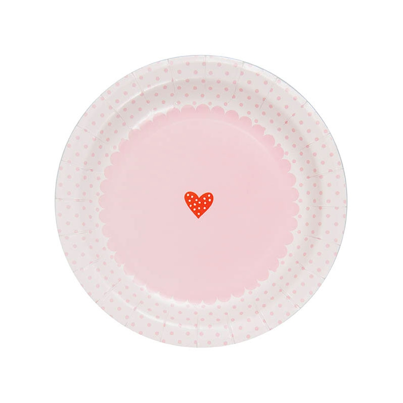 Paper plates Made by Me Pâtisserie 23cm White/Pink x12  sc 1 st  Perles u0026 Co & Paper plates Made by Me Pâtisserie 23cm White/Pink x12 - Made by m ...