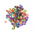 Millefiori slices 5/10 mm transparent x 50g