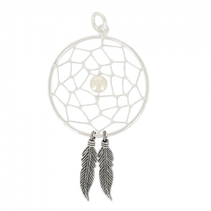 Dreamcatcher pendant 30 mm 925 Sterling Silver x1