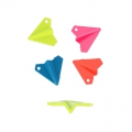 Coloured pendant origami plane 19 mm Neon Pink x1