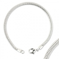 Serpentine bracelet for BeCharmed Swarovski 18cm rhodium tone