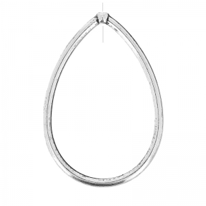 Drop pendant without ring 45mm older silver tone x4