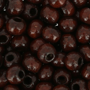Wooden round beads 4mm Brown colour x165
