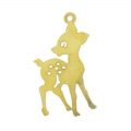 Fawn pendant 28 mm golden tone x1