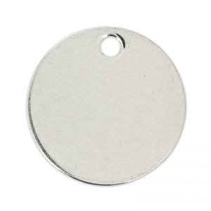 Round medal 20 mm stainless steel  x1