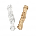 Assortment of natural raffia skeins silver/golden tone x2