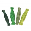 Assortment of natural raffia skeins Green Mix x4