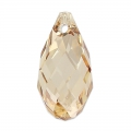 Swarovski Drop 6010 17x8.5mm Crystal Golden Shadow x1