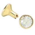 Swarovski Rivet 53001 7mm Crystal Silver Shade/golden tone x1