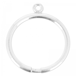 925 Sterling Silver ring with 1 ajustable loop x1