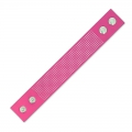 Bracelet to embroider imitation leather 30 mm Fuchsia x 23 cm