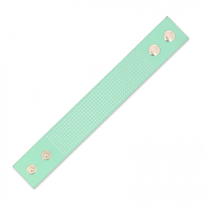 Bracelet To Embroider Imitation Leather 30 Mm Mint X 23 Cm