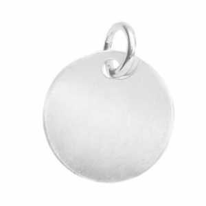 925 Sterling Silver medal charm 10mm to engrave x1