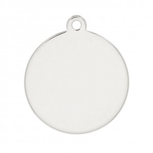 925 Sterling Silver medal 12mm to engrave x1