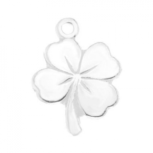 925 Sterling Silver clover charm 12 mm x1
