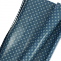 Coated cotton fat quarters little stars Grey/Navy blue 60 x 46 cm