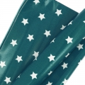 Coated cotton fat quarters stars White/Bleu pétrole 60 x 46 cm