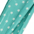 Coated cotton fat quarters stars White/Green Turquoise 60 x 46 cm