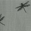 Coated cotton fat quarters dragonfly Black/Griey 60 x 46 cm