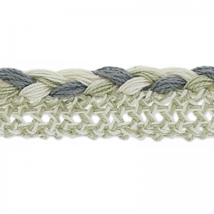 Braided lace 13 mm Sand/Grey x1m