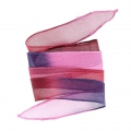 Silk ribbon 25mm Tie and Dye Grappe Wine x85cm