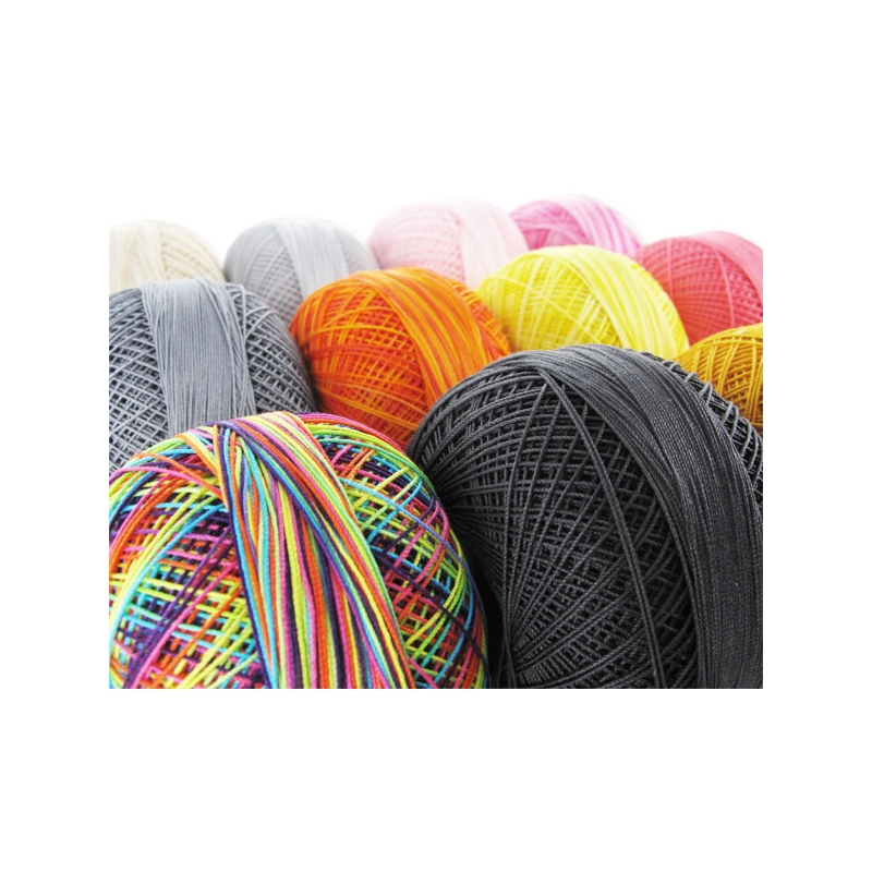 Cotton Yarn Lizbeth Size 40 Leefy Greens N 176 138 X274m