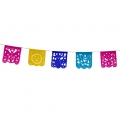 Paper Garland hollow square multicolour x 1.6m