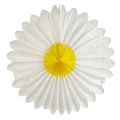 Marguerite in silk paper  68 cm yellow/white x1